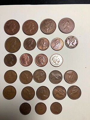 (26) Coins from Great Britain. All used. Priced to sell.