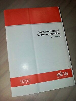 Instruction manual for Elna 9000 swiss computer sewing machine