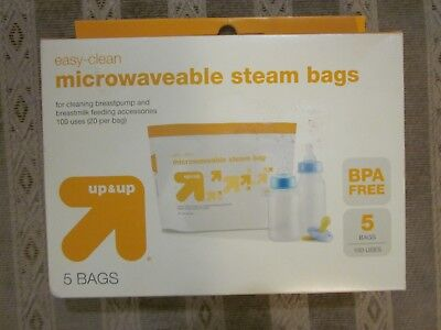 Easy-Clean Microwave Steam Sterilizer Bags  5 Count (Up to 100 uses)
