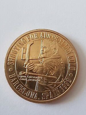 Coin Shooting For Australian Gold - Barcelona 1992 - Olympic Commemorative Medal
