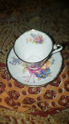 Roslyn fine bone china sunningdale cup and saucer made in england