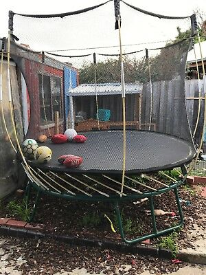 Well loved Springfree trampoline