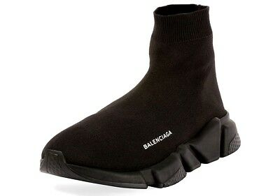 NEW BALENCIAGA Speed Low High Top Black Stretch Sneaker Shoes Womens Trainer 39