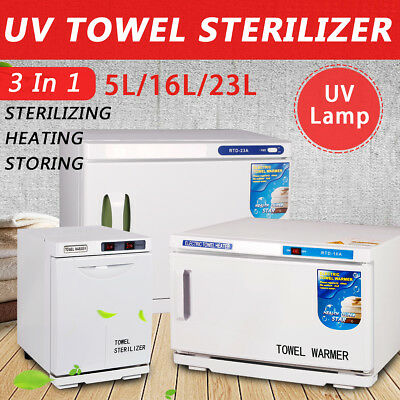 5L/16L/23L UV Hot Towel Warmer Cabinet Facial Sterilizer Disinfection Salon