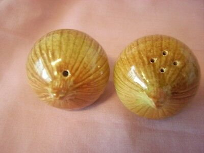 Darbyshire Brown Onion Salt & Pepper Shakers Excellent Condition