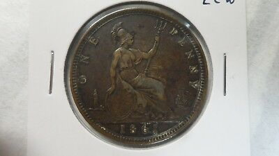 Great Britain 1 Penny, 1861 / without obv sign / 15 leaves / LCW, XF