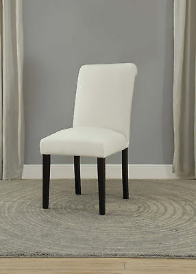 Peachy Acme Rolo Side Chair Cream Pu Chrome Set Of 2 81 79 Bralicious Painted Fabric Chair Ideas Braliciousco