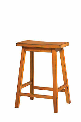 Acme Gaucho Set of 2 Counter Height Stool in Antique Oak Finish 96655