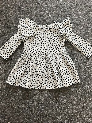 River Island Mini Girls Spotted Dress Age 0-3 Months