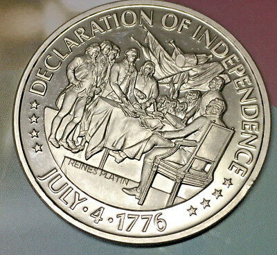 200 Years United States Of America Declaration Of Independ Platin Münze Medaille