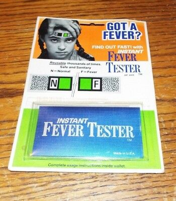 Nos Vintage Instant Fever Tester Thermometer Patent Pending Rare Look!