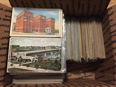 Large Lot of 1050+ Vintage Early and Mid-1900s American Postcards