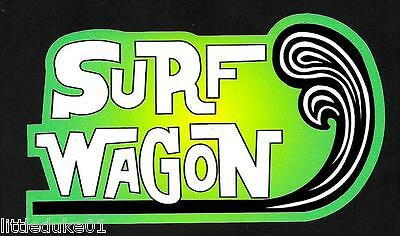 SURF WAGON Van UTE Surfboard VINYL Sticker Decal Longboard Surfing Car Ford VW #