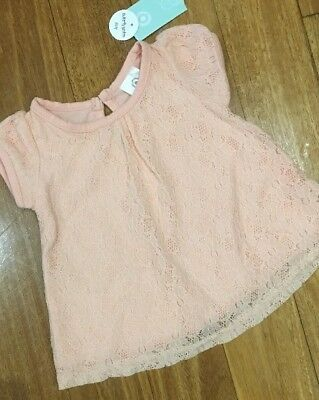 NWT Target Baby Girl Lace Top Sz 3-6 months ~ New