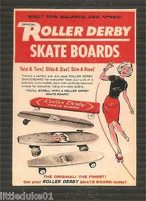 """ROLLER DERBY SKATE BOARDS""  STICKER DECAL Surfboard Longboard Surfing Malibu"