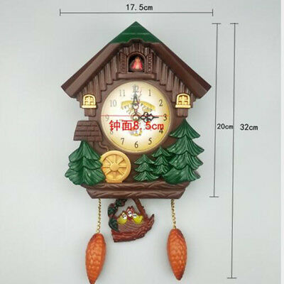 Handcraft Cuckoo Clock House Tree Style Wall Clock Art Vintage Home Decor
