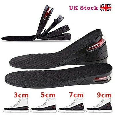 Shoes pad 3cm5cm7cm Unisex Shoe Lift Height Increase Heel Insoles Insert Taller