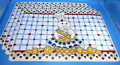 Lot of 4 NWT 2000 Pillsbury Doughboy Cookie Placemats - Poppin Fresh Bake Off