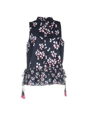 bcf8b79c NEW FRENCH CONNECTION Womens Hallie Crinkle Collarless Shirt ...