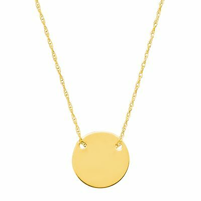Eternity Gold Petite Disc Necklace in 10K Gold