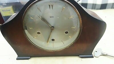 Vintage Smiths Westminster Chiming Clock with Smiths key (not working)