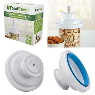 Foodsaver Air Wide Mouth Mason Jar Lid Sealer Vacuum Food Saver