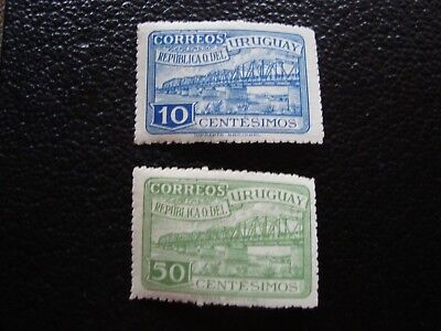 URUGUAY - stamp yvert and tellier N° 591 592 n (back yellowed) (L1) stamp