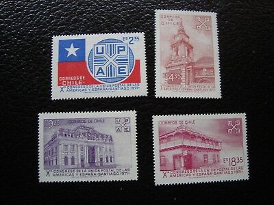 chile - stamp yvert et tellier n° 370 a 373 n (L1) stamp chile