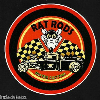 RAT RODS Fink Sticker Decal Hot Rod Car Surfboard Surfing Panel Van Ute Truck VW
