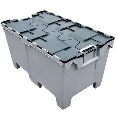 4 X Giant Tote Box Storage Removal Crate Container 1000x575x540mm ALC 190Ltr