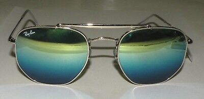 e280c8b6303 Ray Ban Marshal RB3648 003 I2 Silver Frame Blue Gradient Lens Sunglasses  54mm