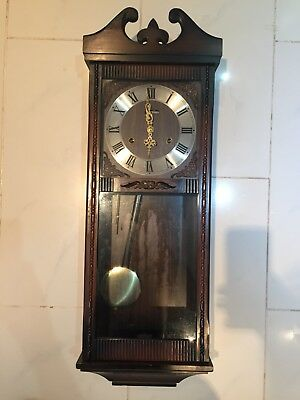 ACCTIM 31 DAY WALL CLOCK - VINTAGE - PENDULUM with CHIMES