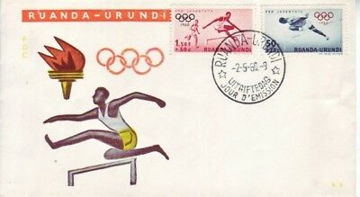 Ruanda-Urundi - Rome Olympic Games (Children's Fund) (PO FDC) 1960