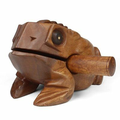 Large Wooden Croaking Frog Guiro - Fair Trade Percussion Instrument - 19 ...