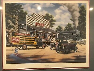 """All Aboard"" Pamela Renfroe print - Coca-Cola collectable - Limited edition"
