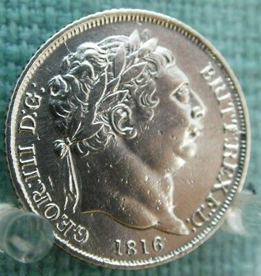 1816 Silver Sixpence - King George III
