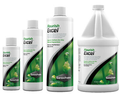 Seachem FLOURISH EXCEL Organic Carbon Aquatic Plants 100ml 250ml 500ml 2L CO2