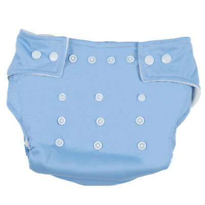 Press Button Adjustment Washable Baby Cloth Diapers-Blue T2Z4