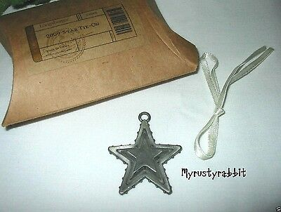 Longaberger 2009 Pewter Star Tie-On ~ Patriotic Metal - New
