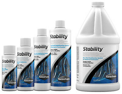 Seachem STABILITY 50ml 100ml 250ml 500ml Aquarium Fish Tank Live Bacteria Colony