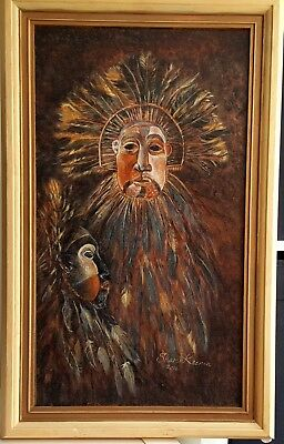 Sharon Keenan Contemporary Oil painting on canvas signed and dated