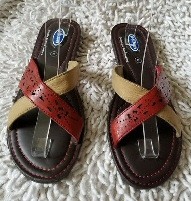 366825d89d97 Dr Scholls Womens Wyoming Double Air Pillo Insoles Strappy Sandals Size 8  EUC