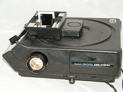 KODAK 5400 CAROUSEL PROJECTOR w/ REMOTE EC STACK LOADER in Box Tested WORKING