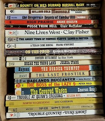 Lot of 20 Western paperback Books. 1940's - 1970's