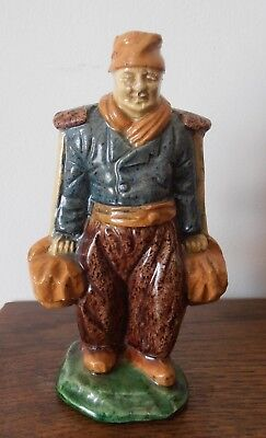 Rare Unusual Antique Majolica Delft Figure