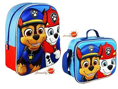 Paw Patrol Backpack and Thermal Lunch Bag/Box 3D Effect Separately or Together