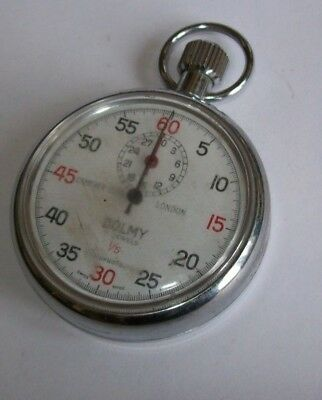 Dolmy Vintage Mechanical Stopwatch  Swiss Made 1/5 Camerer Cuss London - Working
