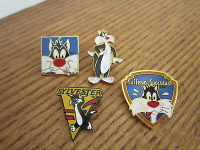 Sylvester pins lot of 4 Looney Tunes Warner Bros