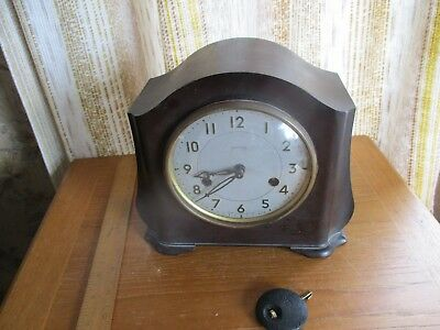 smiths enfield bakelite mantel clock art deco