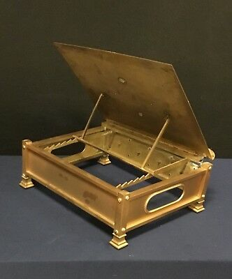 Antique Ornate Brass Bible Book Music Stand Collapsible Vintage